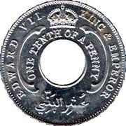 1/10 penny - Edward VII – avers