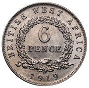 6 pence - George V -  revers