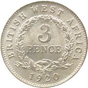 3 pence - George V – revers