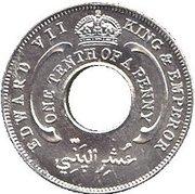 1/10 Penny - Edward VII (Essai) – avers
