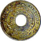 ½ penny - George V – avers