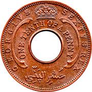 1/10 penny - George VI – avers