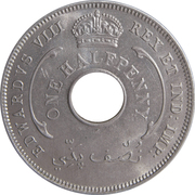 ½ penny - Edward VIII – avers