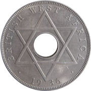 ½ penny - Edward VIII – revers