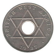 ½ penny - George VI -  revers