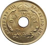1 penny - Edward VIII -  avers
