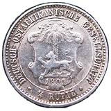 ¼ roupie - Wilhelm II -  revers