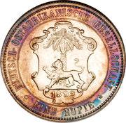 1 roupie - Wilhelm II – revers