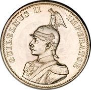 2 roupies - Wilhelm II – avers