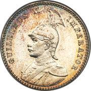 ¼ roupie - Wilhelm II – avers