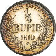 ¼ roupie - Wilhelm II – revers