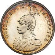 ½ roupie - Wilhelm II – avers