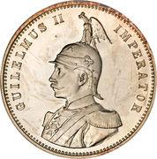 1 roupie - Wilhelm II -  avers