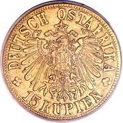 15 roupies - Wilhelm II – avers