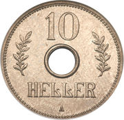 10 heller - Wilhelm II – revers
