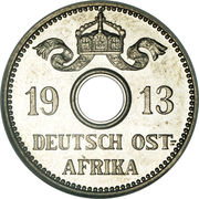 5 heller - Wilhelm II – avers