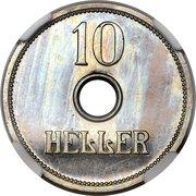 10 Heller - Wilhelm II (Essai) – revers