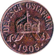 ½ heller - Wilhelm II – avers