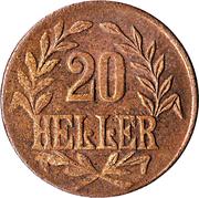 20 heller - Wilhelm II (cuivre) – revers