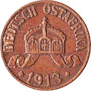 1 heller - Wilhelm II – avers
