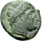 Bronze Æ18 (Agathopolis) – avers