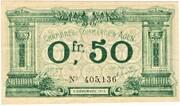50 centimes - Chambre de Commerce d'Agen [47] <Sans filigrane> – avers