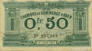 50 centimes - Chambre de Commerce d'Agen [47] <Filigrane abeille> -  avers