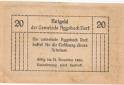20 Heller (Aggsbach Dorf) -  revers