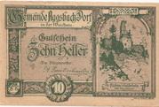 10 Heller (Aggsbach Dorf) – avers