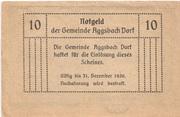 10 Heller (Aggsbach Dorf) – revers