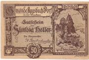 50 Heller (Aggsbach Dorf) – avers