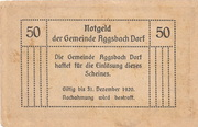 50 Heller (Aggsbach Dorf) – revers