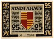 25 Pfennig (Ahaus, Stadt) – avers