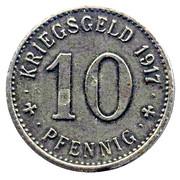 10 pfennig - Ahlen – revers