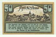 50 Pfennig (Ahrensbök, stadt) – revers