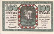 100 Pfennig (Ahrensbök) – avers