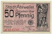 50 Pfennig (Ahrweiler, Stadt) – avers