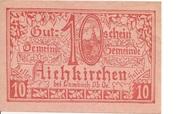 10 Heller (Aichkirchen) – avers