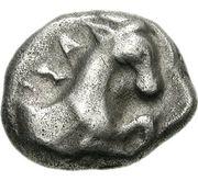 Hemidrachm (Aigai) – avers