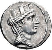 Tetradrachm (Aigeai) – avers