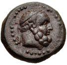 Bronze Æ16 (Aigeai) – avers