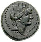Bronze Æ21 (Aigeai) – avers