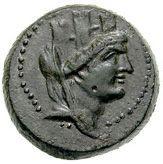 Bronze Æ21 (Aigeai) -  avers