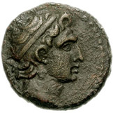 Bronze Æ19 (Aigeai) -  avers