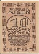 10 Heller (Aigen) – avers