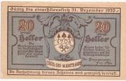 20 Heller (Aigen) – avers