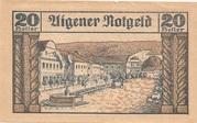 20 Heller (Aigen) – revers