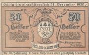 50 Heller (Aigen) – avers