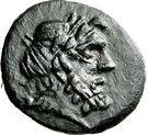Bronze Æ18 - Epikrates (Hypata) – avers