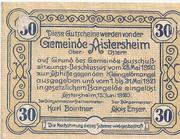 30 Heller (Aistersheim) – revers